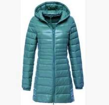 SEDUTMO 2018 весна ультра легкие женские куртки Плюс Размер 6XL утиный пуховик Длинная Куртка-пуховик тонкое пальто с капюшоном ED123(China)