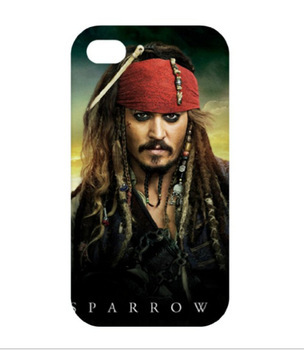 Pirates of the Caribbean Jack Sparrow Johnny Depp case cover for iphone 4 4s 5 5s 5c SE 6 6s & 6 plus 6s plus #2008 E5591(China (Mainland))
