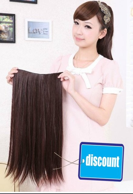 "22"" 100G Indian Clip in Synthetic hair extensions 9 color for choose( #1B,#2t33,#2t30,#4T33,#4T30,#4,#6,#8,#613)"