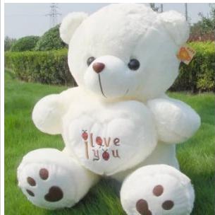 Loving teddy bear plush toy / birthday gift 1 pcs(China (Mainland))