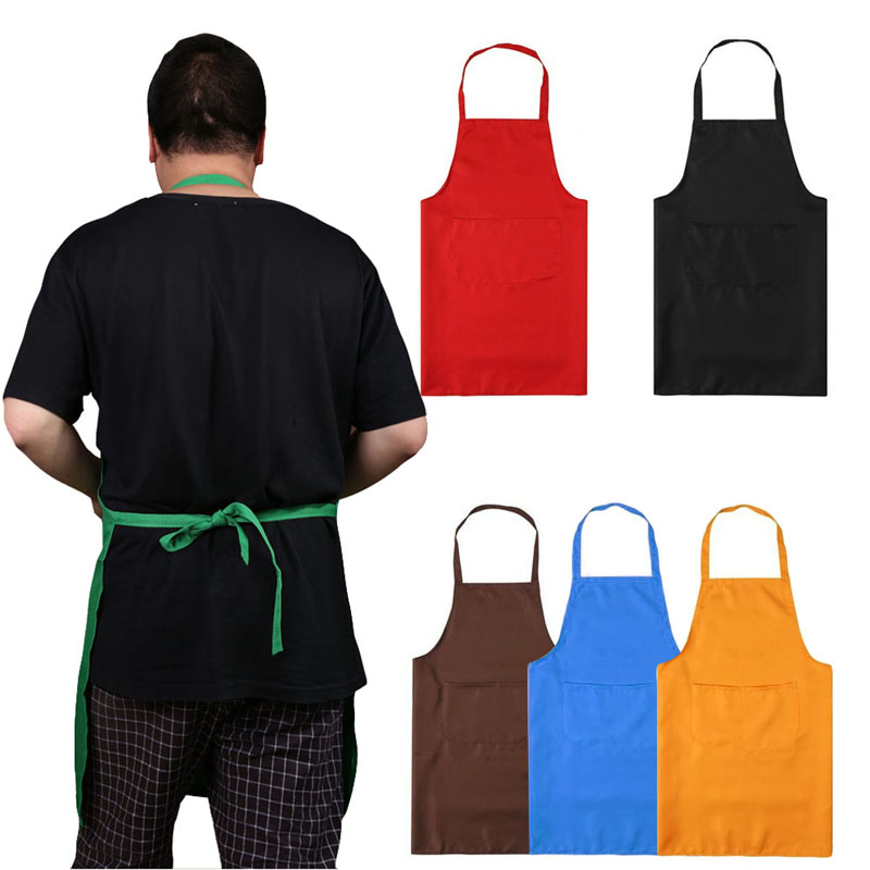 Kitchen Cooker Chefs Apron Pinafore Front Pocket Oilproof Home Craft Baking delantales tablier cuisine 5 Colors 72*58CM(China (Mainland))