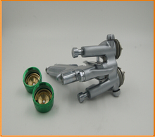 SAT1189 blue made in china spray paint cars two double nozzle oil pneumatic model airbrush gun(China (Mainland))