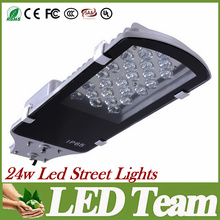 Led Street Light 24W Led Flood Lights Warm/Cool White Led Outdoor Lighting AC85-265V CREE Led Road Lamp Waterproof 120 Angle CE (China (Mainland))