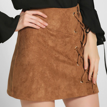Buy Autumn Winter A-line High Waist Suede Leather Skirt Women Solid Lace Vintage Preppy Casual Mini Skirts Khaki 0111-68G Orders, 52458) for $21.95 in AliExpress store