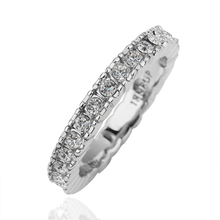 (Min $10 mix orders) Factory Price Wholesale Jewelry 18K White Gold GP Top Grade Crysal Finger Band Ring US Size 7,8 WR156(China (Mainland))