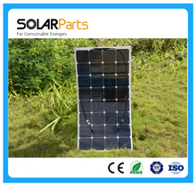 Solarparts 1x 100W fexible solar panel 12V high efficiency solar cell yacht boat marine RV solar module for battery charge cheap(China (Mainland))