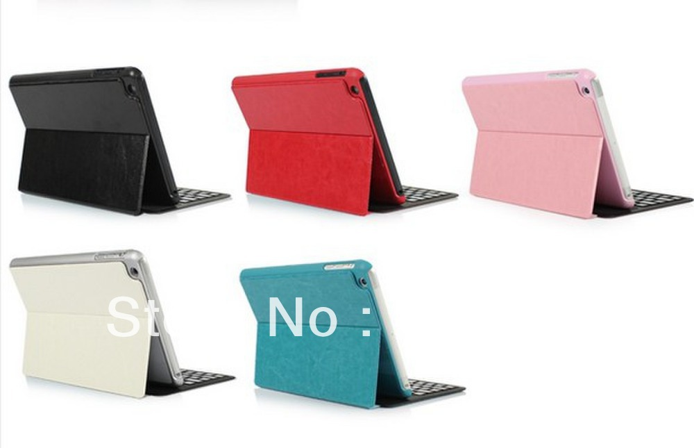Free shipping Bluetooth Leather Case Keyboard For Ipad Mini\2\3\4(China (Mainland))