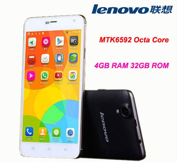 "Original Lenovo Mobile Phone S90c MTK6592 Octa Core 5.0"" HD Screen Android 4.4 4GB RAM 32GB ROM 13.0MP Dual SIM Black/White Case(China (Mainland))"