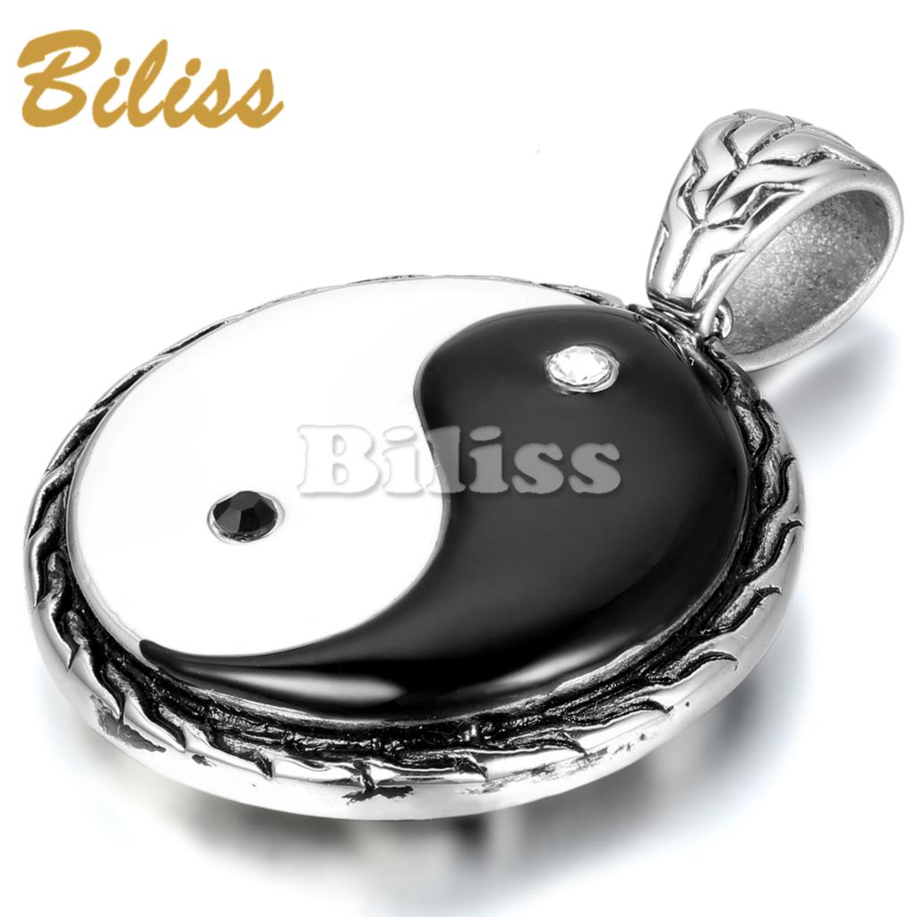 HOT Chinese Mystical Yin Yang Pendant Necklace stainless steel necklaces Bagua pendant New Fashion Men Jewelry(China (Mainland))