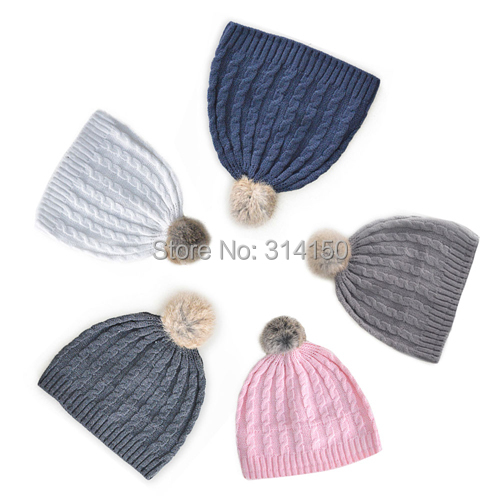 TOU 2015 New Style Baby winter hats Warm hats crochet hats 5colours cotton and Polar fleece kid winter caps boy and gilr's hats(China (Mainland))