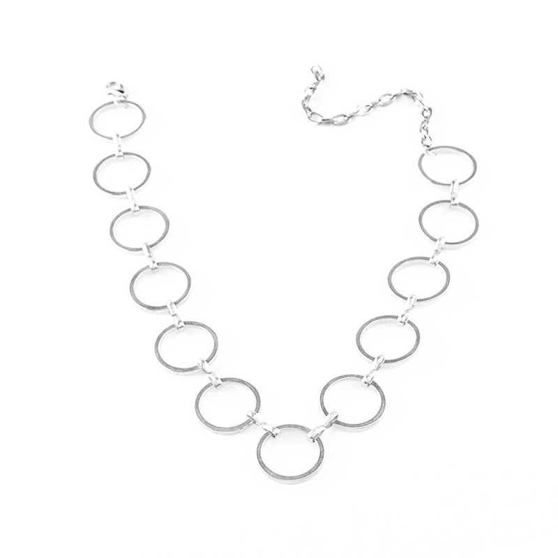 Hot Newest fashion accessories mix color metal  round choker necklace for couple lovers'  N187