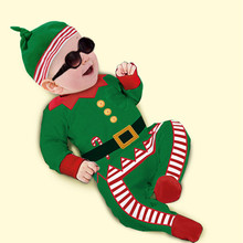 Fashion Christmas Gift Baby Rompers 2015 New Cotton Long Sleeve Autumn Kids Clothing Set Romper+Hat for 9M-3Y Newborn Girls Boys(China (Mainland))