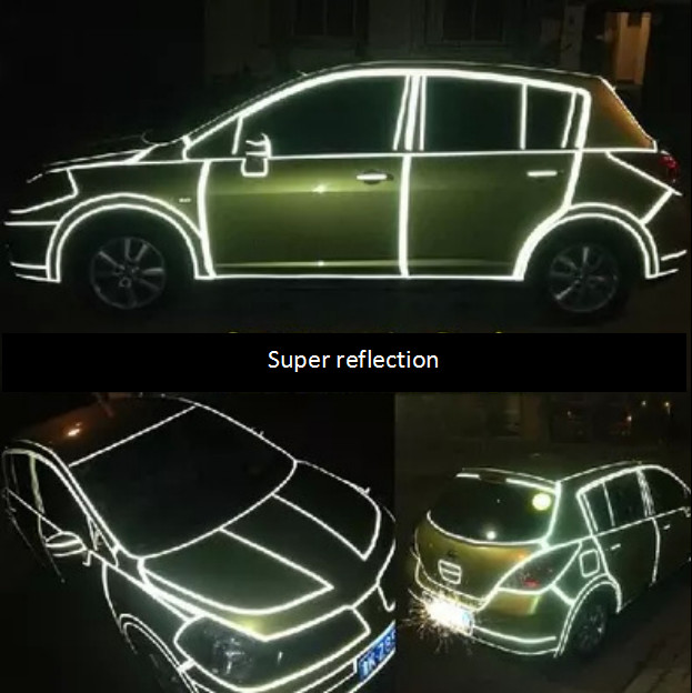 1cm*45m Reflective Sheeting Tape Car Styling Reflect Sticker Auto Motorcycle Bike Decoration Decal Whole Body Color Strip Sheet(China (Mainland))