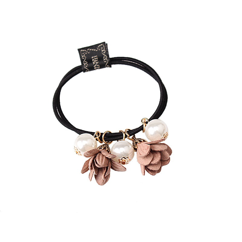 M MISM New Korean Women Flowers Headwear Gum for hair Pearls Beads Elastic Hair Band/Ties Ponytail Holder Hair Accessories(China (Mainland))