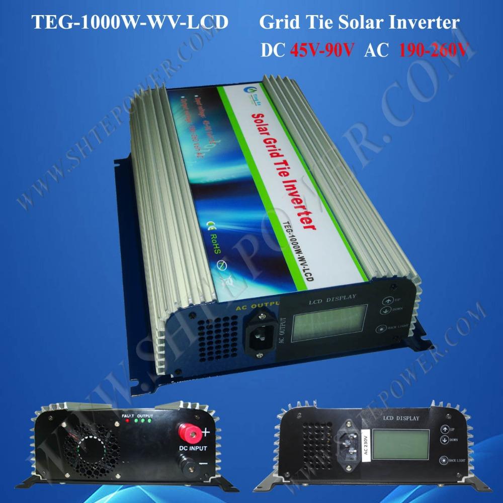 dc 45-90v input grid tie inverter , 1 kw solar inverter(China (Mainland))