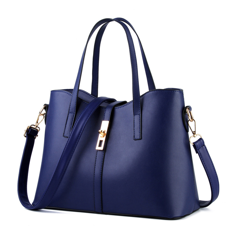 Newest designer handbags high quality solid women leather for Designer bad