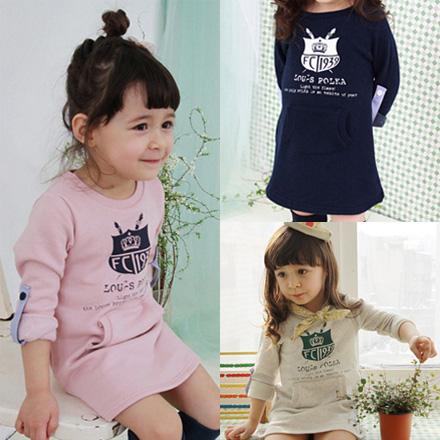 2015 spring navy style girls clothing baby child long-sleeve dress B0189(China (Mainland))