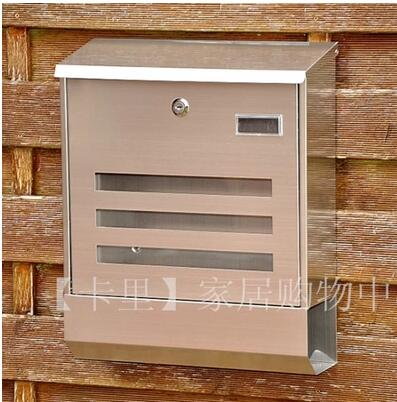 European style villa outdoor 201 stainless steel mailbox for European homes and style magazine