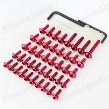 빨간색 오토바이 페어링 볼트 나사 알루미늄 honda 1999-2000 cbr 600 f4 2001-2006 cbr 600 f4i(China (Mainland))