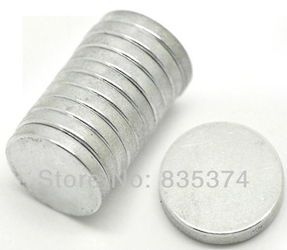 3Silver Tone Super Strong Neodymium Hematite Round Magnets 15mm - CAI YUN Store store