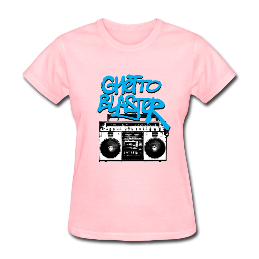 shirt womens ghetto blaster customize cool logos t shirts women s. Black Bedroom Furniture Sets. Home Design Ideas