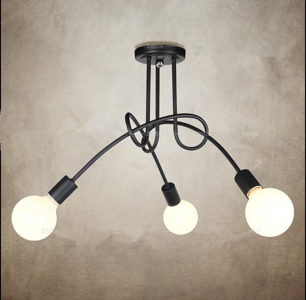 Buy vintage retro lighting ceiling lamp for Iron pipe ceiling light