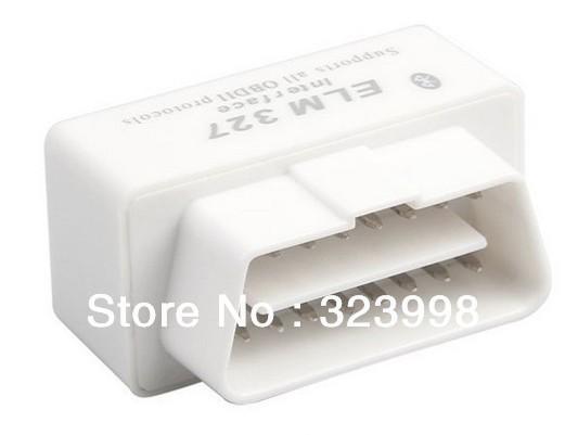 50pcs/LOT  super mini elm327 bluetooth ELM 327 Interface OBD2 / OBD II Auto Car Diagnostic Scanner OBDII Freeshipping