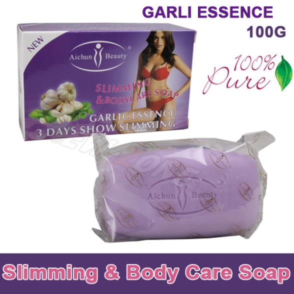 (Min. Order 10$) 100% Pure Garlic Essence Lose Weight Loss Slimming body Soap Fat Burning Effective slim cream best partner 100g(China (Mainland))