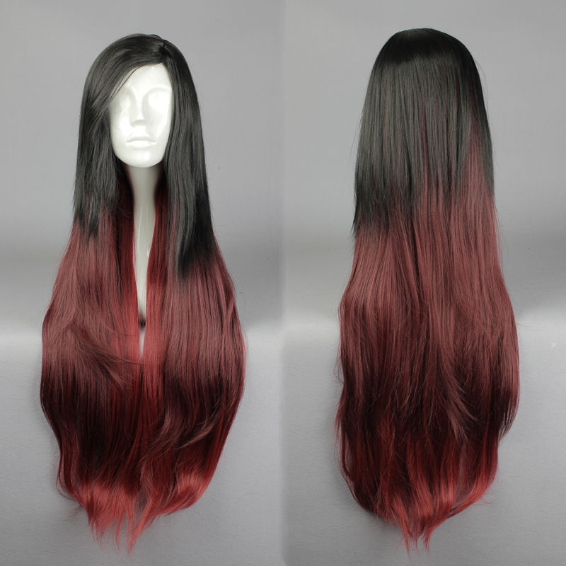 Wholesale&amp; heat resistant LY free shipping&gt;&gt;&gt;CUSTOM League of Legends LOL Cosplay Costume Katarina Black mixed red Wig<br><br>Aliexpress