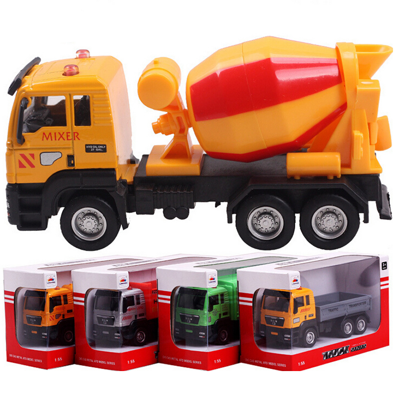 Hot sale truck model toys children plastic toys metal diecasts toy vehicles kids toy fire truck model vehicles 4 colors QC13(China (Mainland))