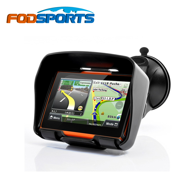 2016 Updated 256 RAM 8GB Flash 4.3 Inch Moto Navigator GPS Moto for Motorcycle Waterproof gps Navigation with FM Free Maps!(China (Mainland))