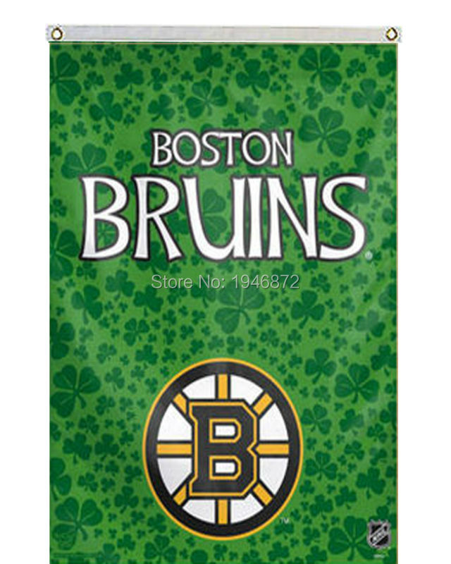 2016 Boston Bruins Banner Green Flag 3' x 5' Custom Any Advertising Flag BBF041(China (Mainland))