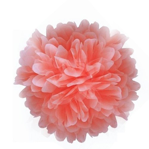 GSFY Wholesale Paper Pom Poms For Birthday Party Wedding Annual Peach 15cm(China (Mainland))