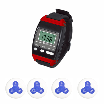 20 buttons 2  watches receiver  call bill cancel keys wireless wrist watch pager