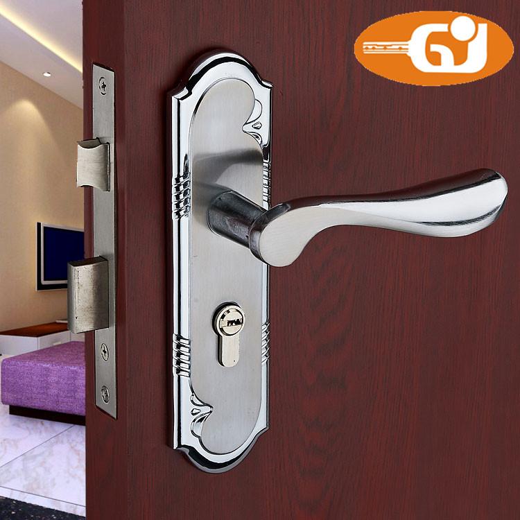New Aluminum Door Lock Home Interior Living Room Bedroom Bathroom Door Knobs Lock(China (Mainland))