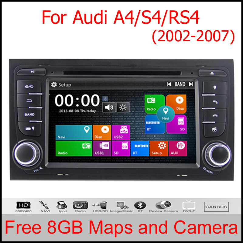 Car DVD GPS Player 2 Din for Audi A4 S4 RS4 2002 2008 Stereo Headunit with