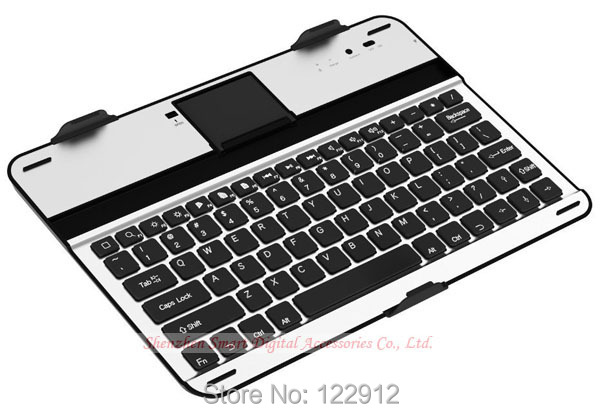 store product Aluminium Bluetooth Keyboard Dock Case for Samsung Galaxy Note  Tablet N Wireless