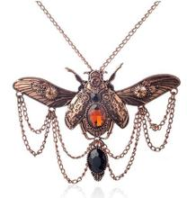 Vintage beetle pendant steampunk jewelry necklace(China (Mainland))