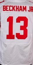 Best quality jersey,Men's 13 Odell elite jersey,White and blue,Size 40-56(China (Mainland))