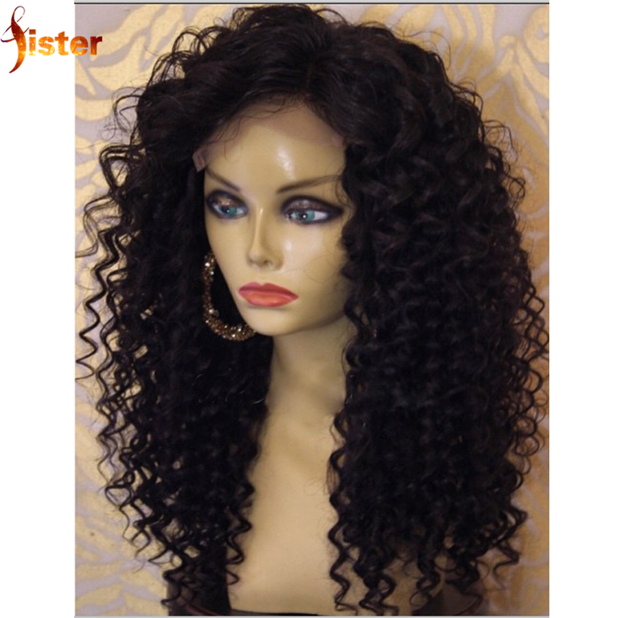 Full Lace Human Hair Wigs Curly For Black Women Virgin Brazilian Deep Curly Front Lace Wigs Glueless Lace Front Human Hair Wigs(China (Mainland))