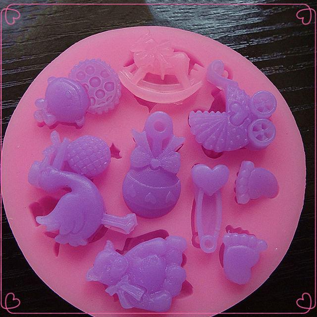 Fondant Silicone Mold for Cake Decoration