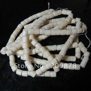 TSB0424  Tibetan white Yak bone loose prayer beads,9*9mm,Drum loose spacers,100 beads lot