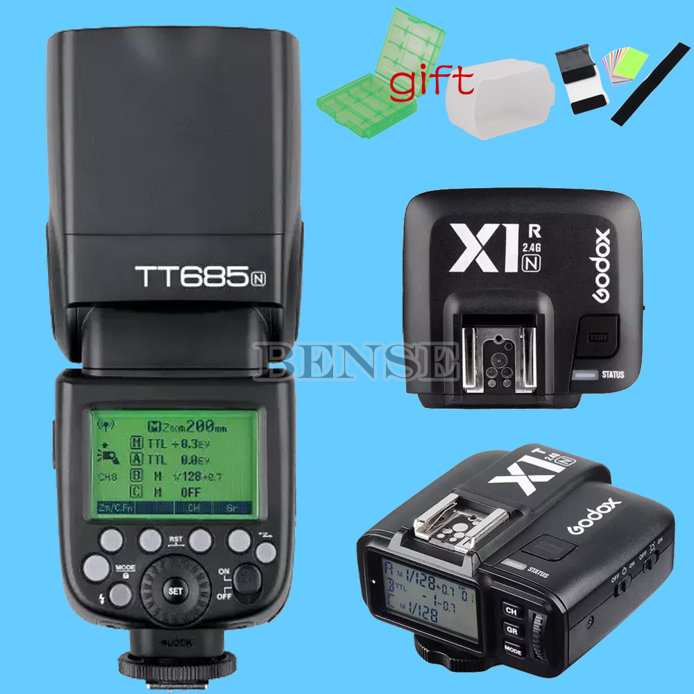 Godox TT685N 2.4G 1/8000s i-TTL GN60 Flash With X1N Trigger &amp; Receiver for Nikon<br><br>Aliexpress