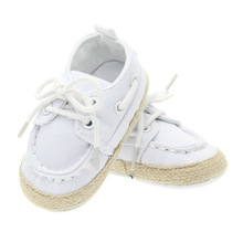 NWT baby boy pure white blue red cotton ties handmande first walkers shoes size 2 3 4 in us(China (Mainland))