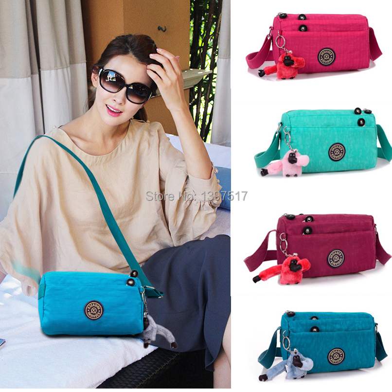 2014 New Famous Brand Casual Women Shoulder Handbags Bag for Sale Zipper Pockets Nylon Bag with Monkey Bolsas Mochilas Ship Free(China (Mainland))