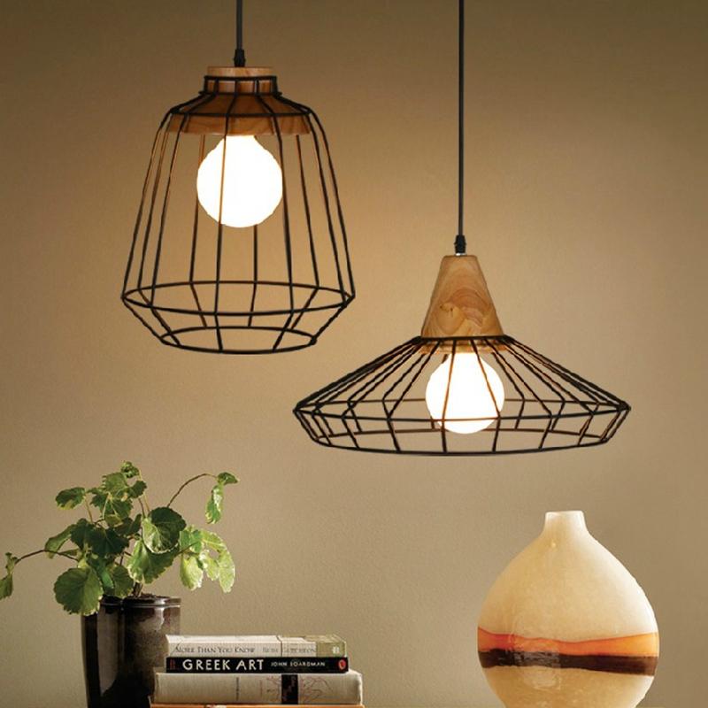 Free Shipping Loft industrial vintage pendant lights Bar Kitchen Home Decoration E27 Edison Light Fixtures bird cage Lamp<br><br>Aliexpress
