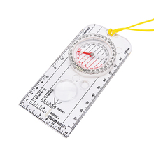 Buy 1pc Hot Sale Mini Baseplate Compass Map Scale Ruler Outdoor Camping Hiking Cycling Scouts Military Compass for $2.19 in AliExpress store