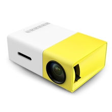 [Genuine] Original 300 LED Portable Projector 500LM 3.5mm Audio 320x240 Pixel HDMI USB Mini YG-300 Projector Home Media Player(China (Mainland))