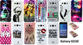 Flip Painted PU Leather Phone Cover For Samsung Galaxy Grand Prime G530 G531 G531H Wallet Stand Card Slots Magnetic Clasp Cases
