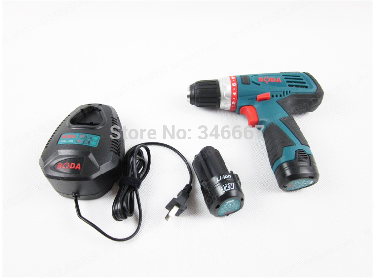 Lithium electric drill with 2 pcs lithium battery electric screwdriver charging station electric tools electric wrench<br><br>Aliexpress